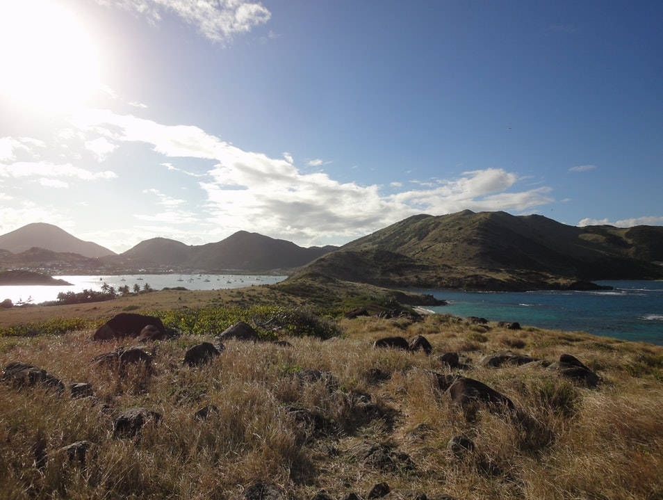 Resting after some snorkelling and hiking, Pinel Island, St Martin