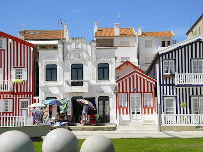 Beach Houses at Costa Nova   Portugal