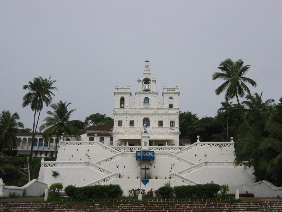 Church and Palms Panaji  India
