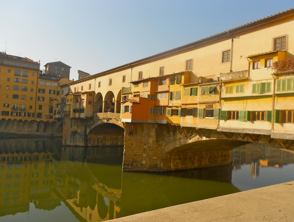 Morning Walk to Ponte Vecchio Florence  Italy