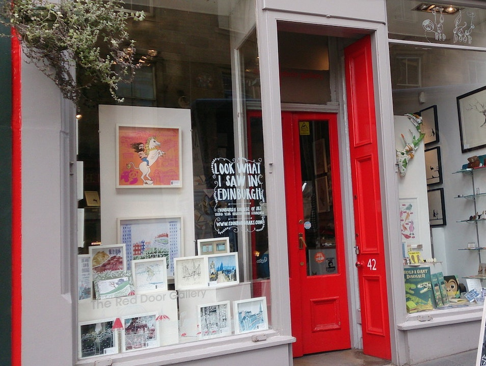 Red Door Gallery Edinburgh  United Kingdom