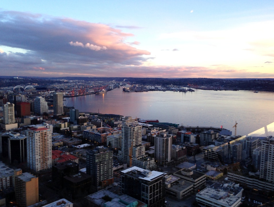View From Sky City Restaurant in Space Needle