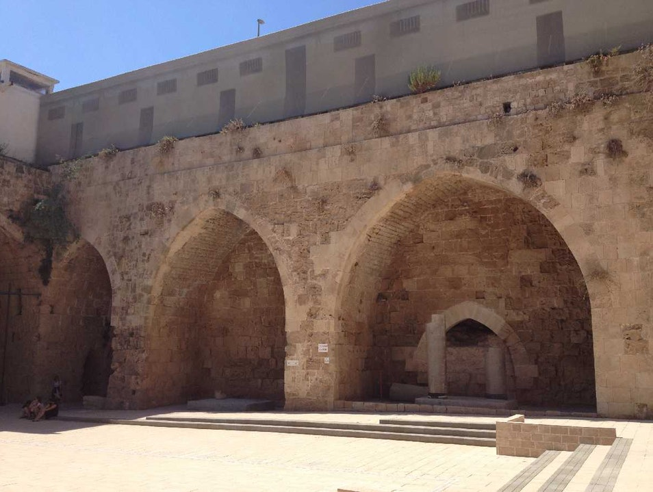 Restored Crusader HQ in Old Acre Acre  Israel