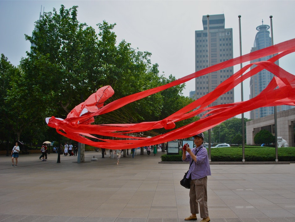Octopus Kites and Historical Artifacts  Shanghai  China