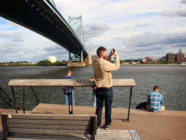 Picnics and photo ops at Race Street Pier