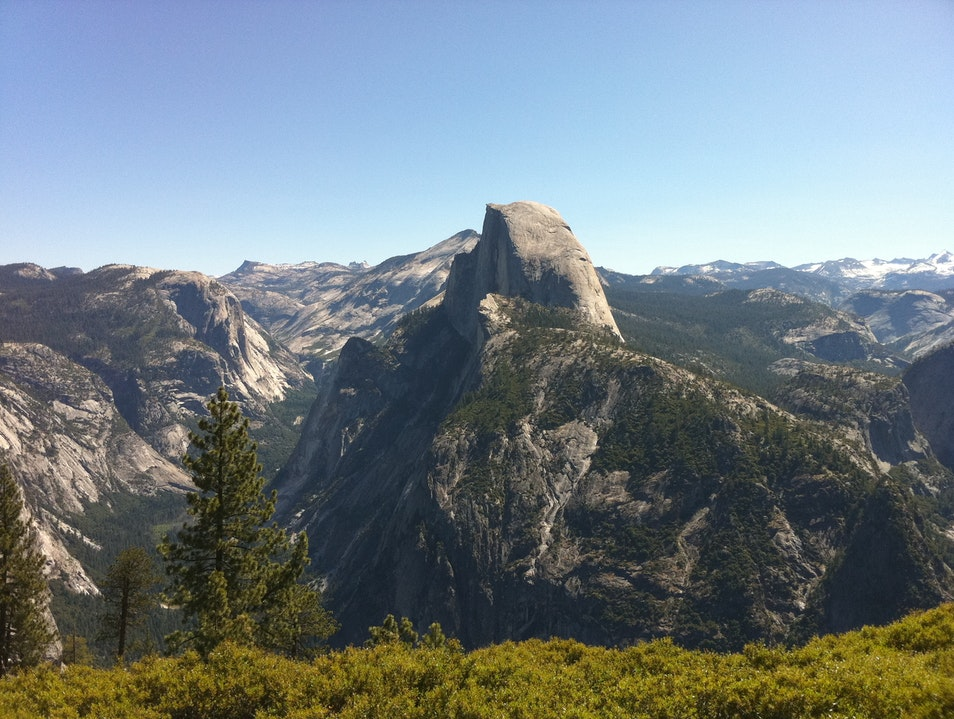 Top of the world view Yosemite Village California United States