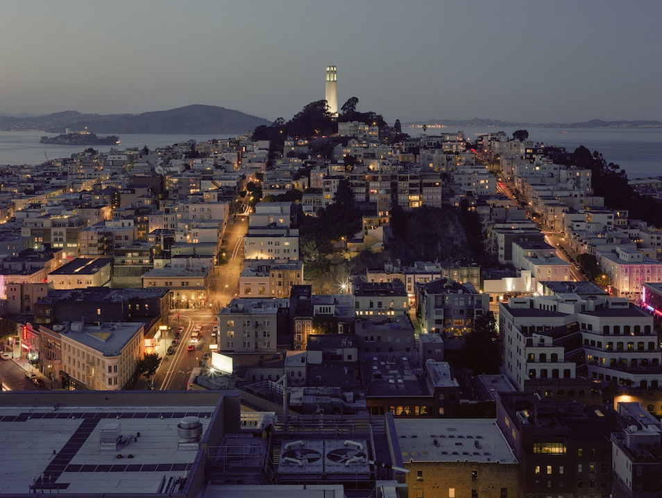 Take in Views Over San Francisco at Coit Tower