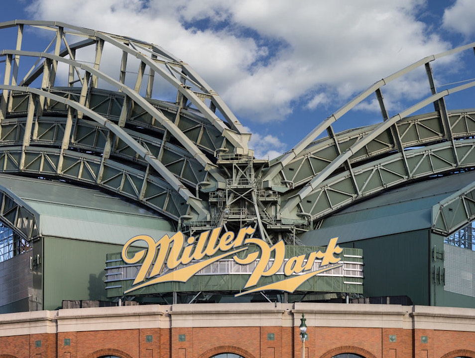 Miller Park Looking Up Milwaukee Wisconsin United States