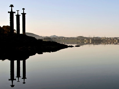 "Swords in the Rock (""Sverd i Fjell"") Stavanger  Norway"