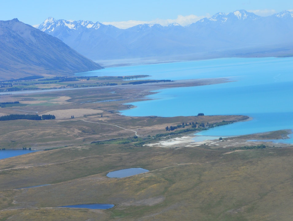 Lake Tekapo from Above! Lake Tekapo  New Zealand