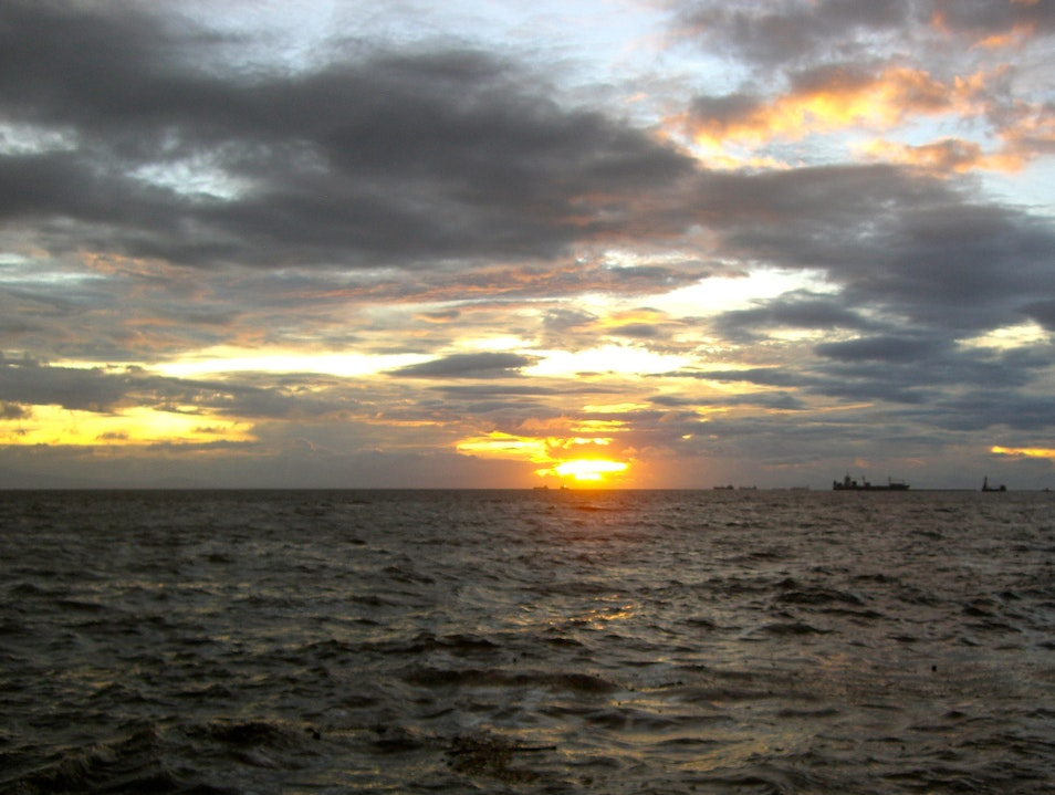 Manila Bay Sunset From A Hotel Pool