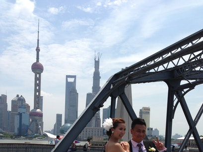 "Waibaidu ""Garden"" Bridge Shanghai  China"