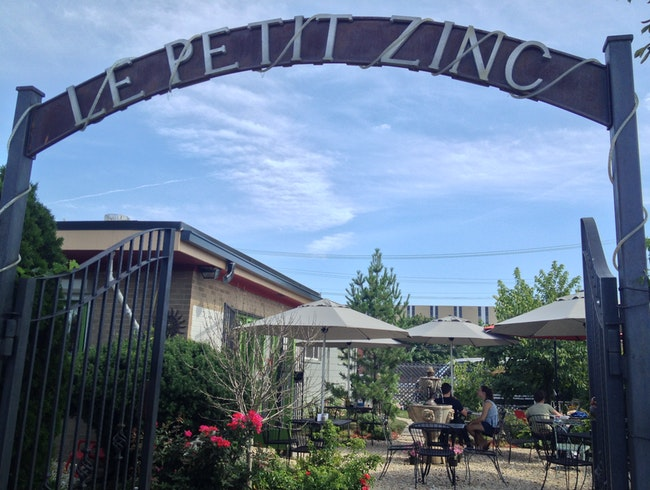 French Cafe in a Garden on Trumbull
