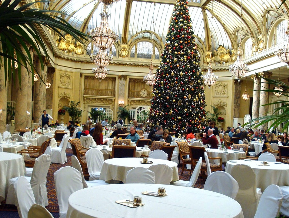 Christmas Holidays at elegant Palace Hotel San Francisco California United States