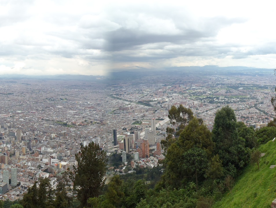 Looking down on Bogota from Monserrate