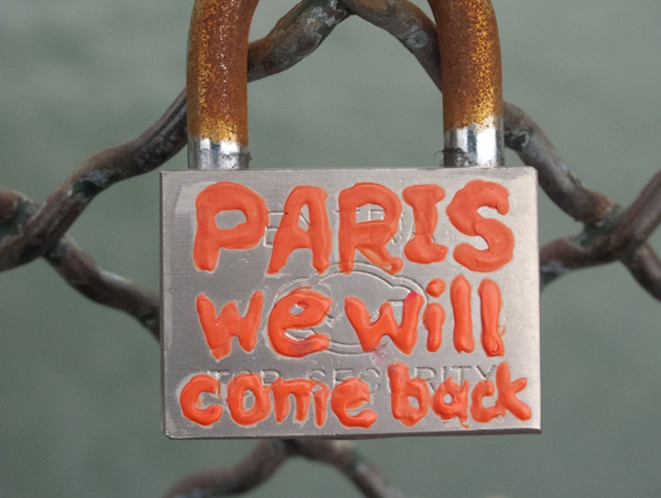 Spend time looking at the Love Locks