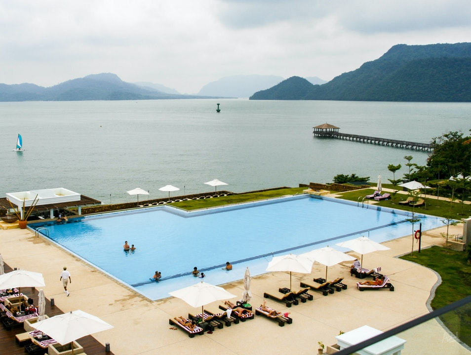 Lounge in the Westin's Pool by the Sea Langkawi  Malaysia