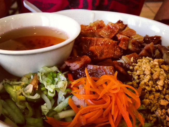 Bun Thit Nuong on the cheap, centrally located too.
