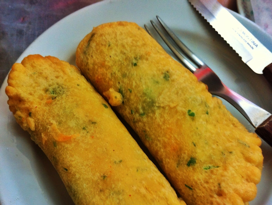 Salted codfish egg rolls - tasty and cheap!