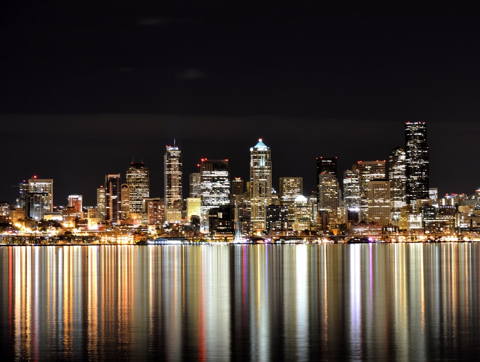 Take a Night Stroll by the Water Seattle Washington United States