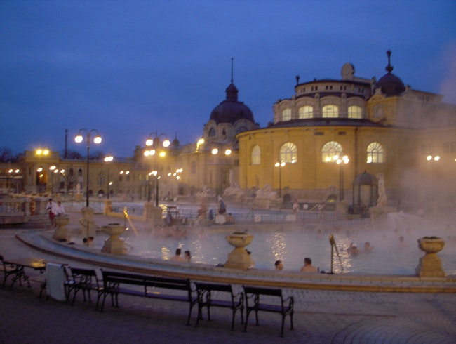 Warm up in the thermal baths in Budapest