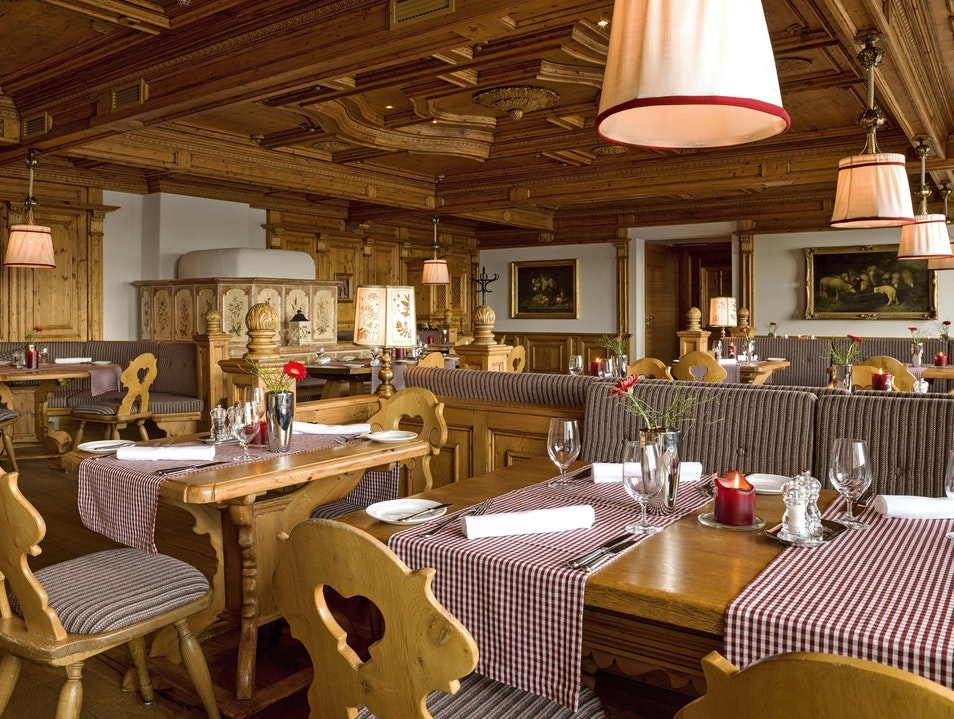 Dine at the Interalpen Hotel  Seefeld  Austria