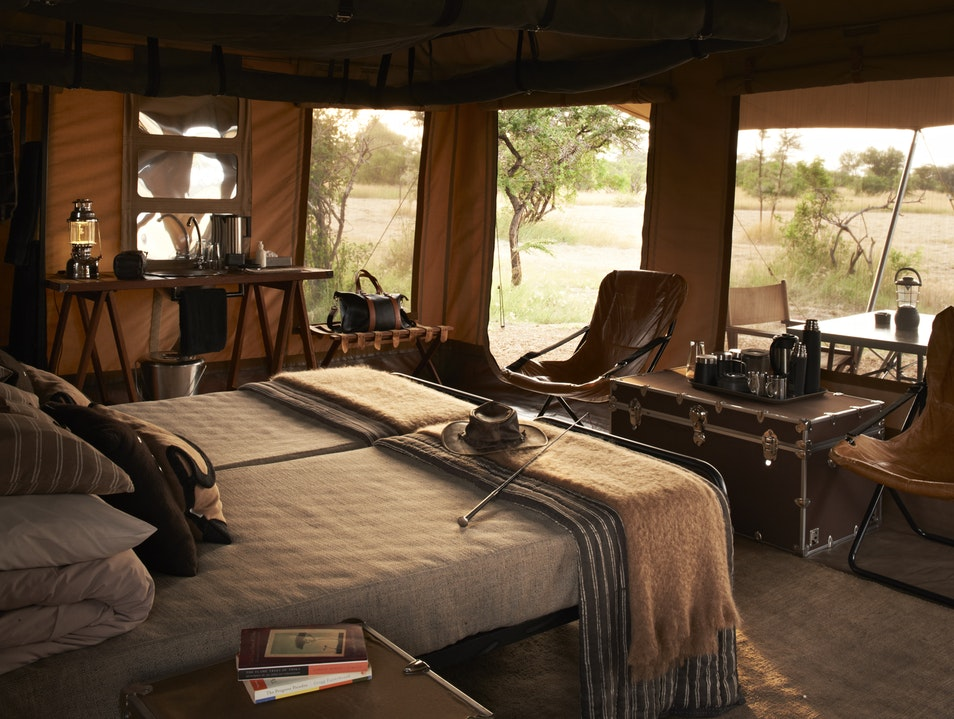Singita's new mobile tented camp. Serengeti  Tanzania