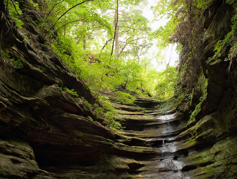 The French Canyon at Starved Rock Oglesby Illinois United States