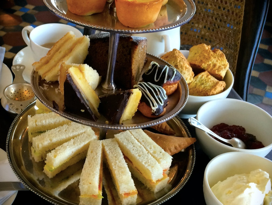 High Tea at the Historic Amangalla Hotel- Dutch Fort Galle  Sri Lanka