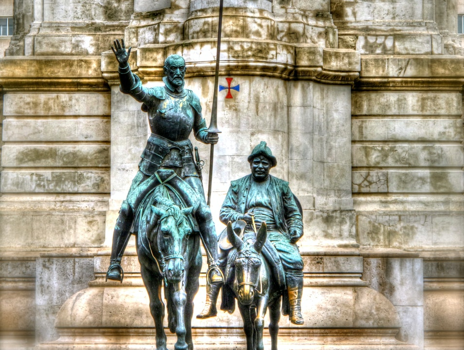 Statue of Don Quixote and Sancho Madrid  Spain