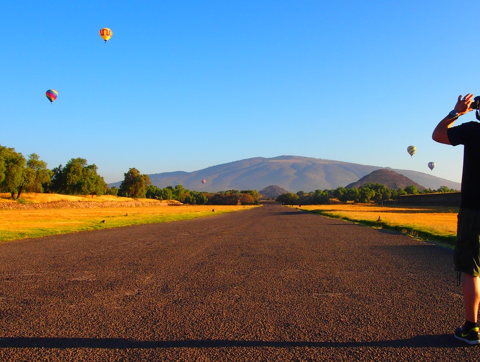 Hot Air Balloon Tour over Teotihuacan State of Mexico  Mexico