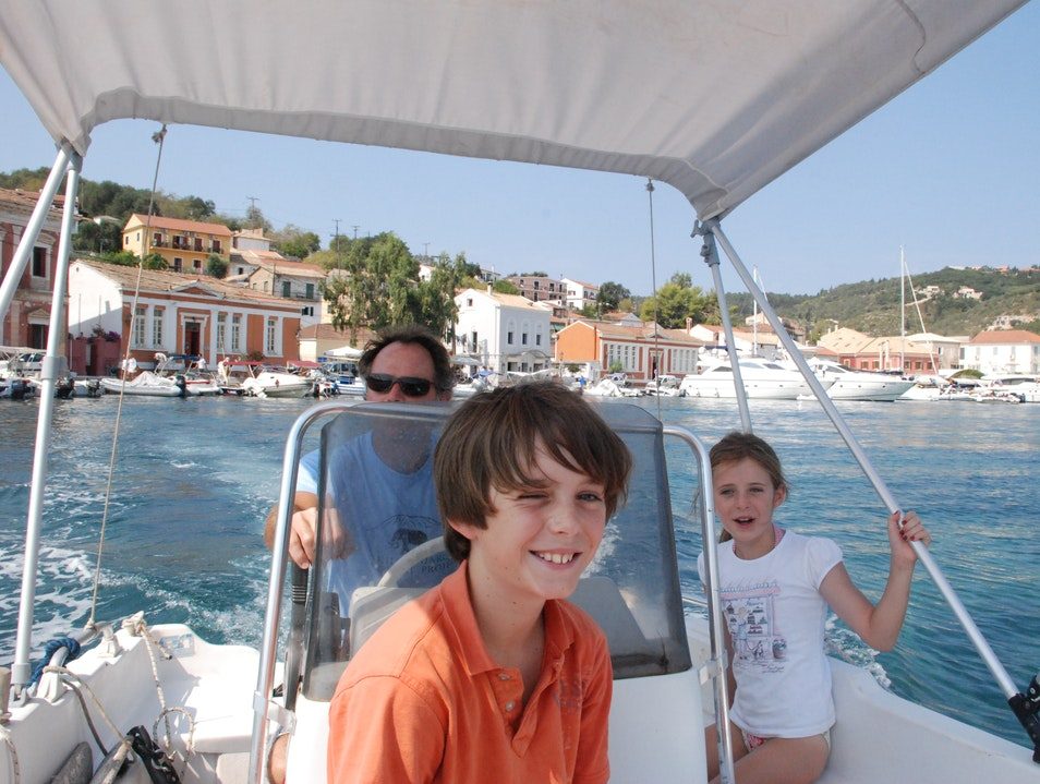 Greek Family Holiday on the Island of Paxos Corfu  Greece