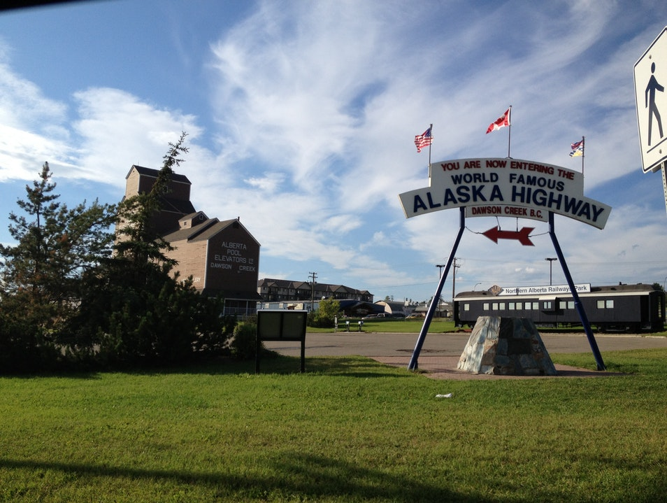 Where The Great Alaskan Highway Begins Dawson Creek  Canada
