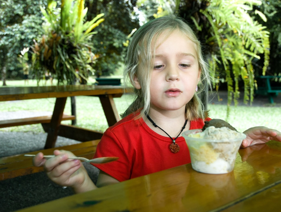 Eating Ice Cream at the Daintree Ice Cream Company, Cape Tribulation, Queensland, Australia Daintree  Australia