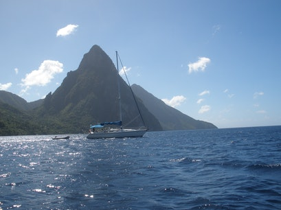 The Pitons  Soufriere  Saint Lucia