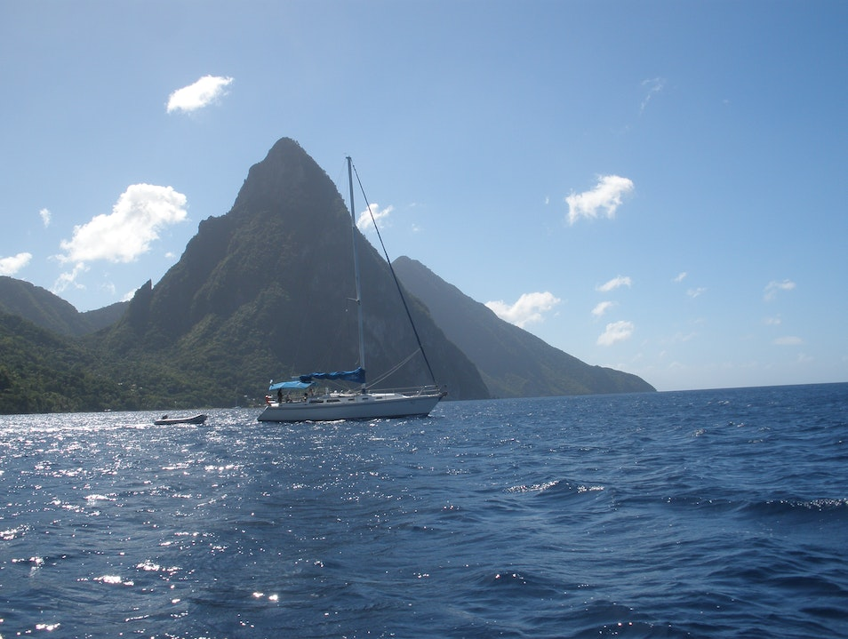 Sail and Swim in the Shadow of the Pitons