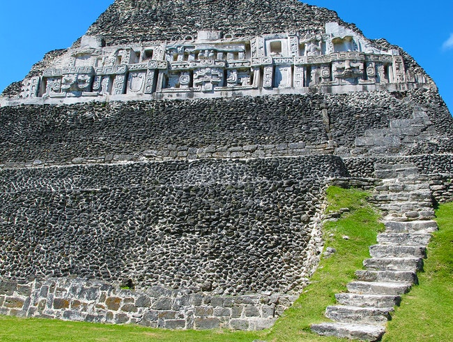 Climb El Castillo at Xunantunich