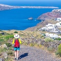 Hike from Fira to Oia Thera  Greece