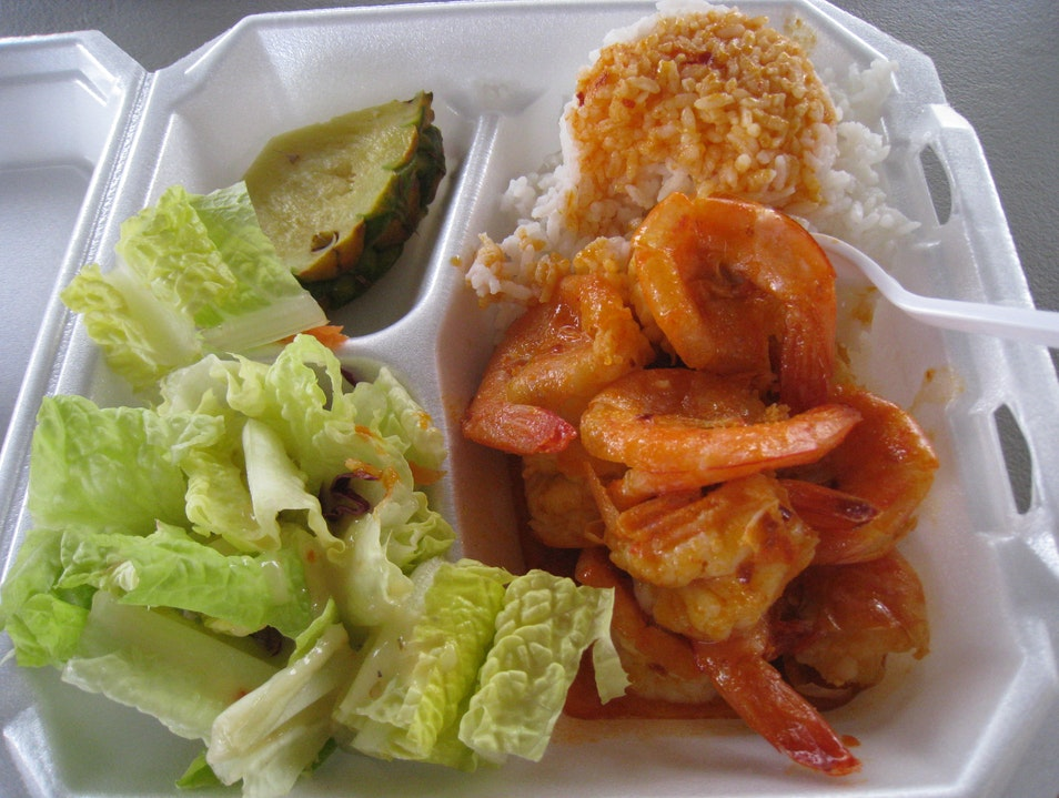 Spicy Shrimp Yumminess Haleiwa Hawaii United States