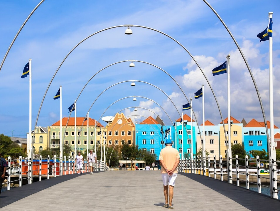 Stroll Across the Historic Queen Emma Bridge Willemstad  Curaçao