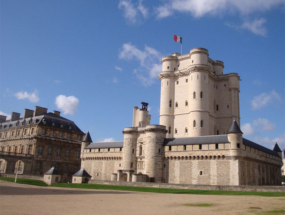 14th c. royal castle in Paris Vincennes  France