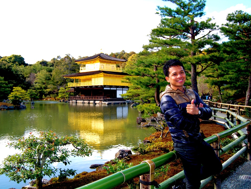 Seeing The Temple of the Golden Pavilion Kyoto  Japan