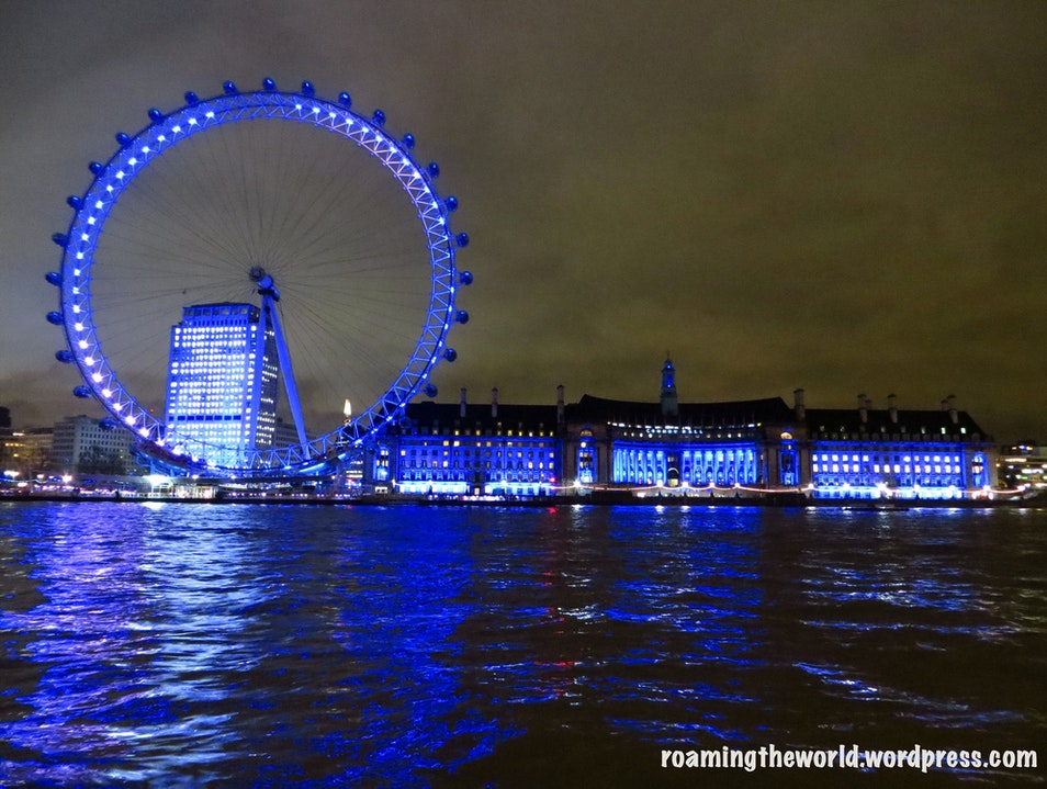 Lightening up the Thames, London eye London  United Kingdom