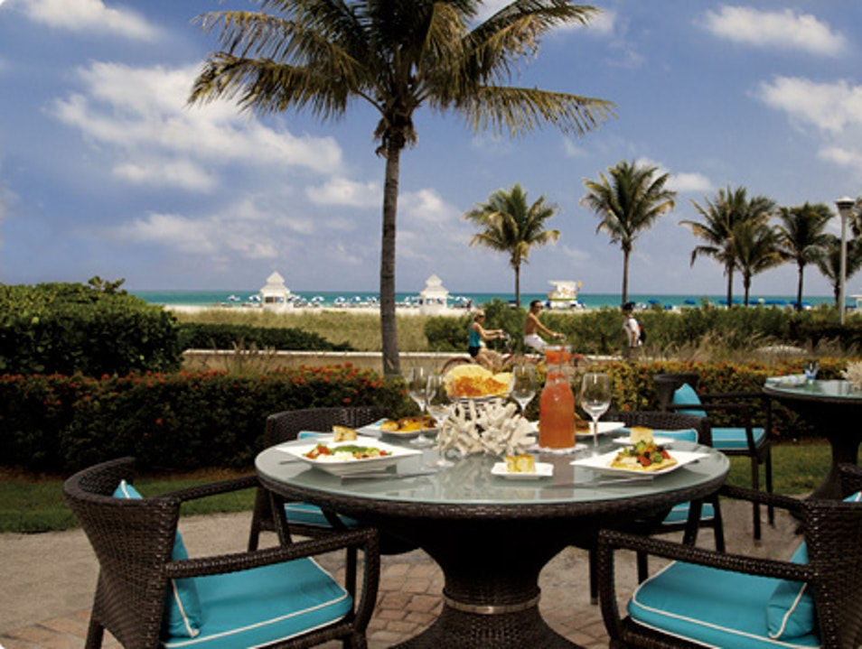 Dine at the Only Waterfront Restaurant on South Beach Miami Beach Florida United States