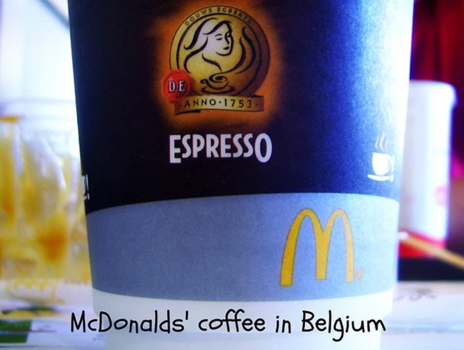 Real coffee @ McDonalds Mons  Belgium