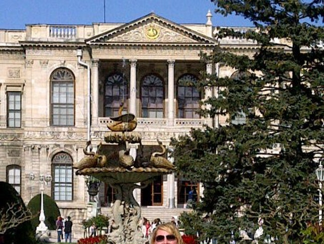 Touring Dolmabahce Palace on the shores of the Bosphorus