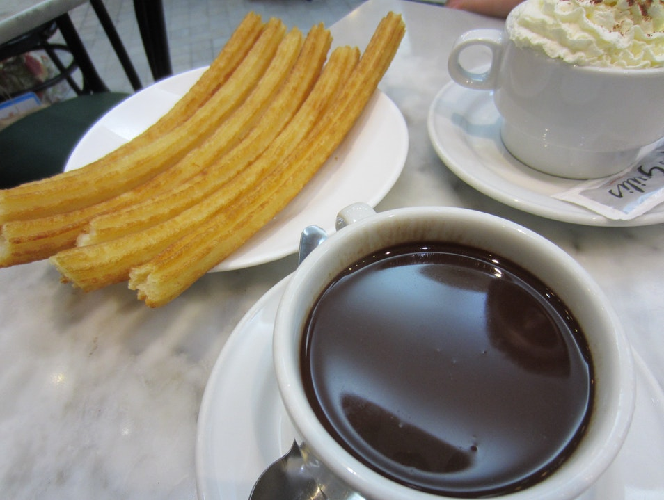 Chocolate con Churros in Madrid  Madrid  Spain