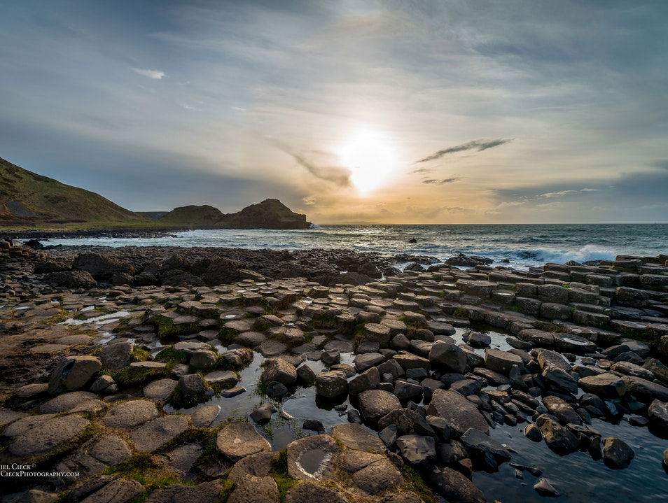 Sunset at Giant's Causeway Bushmills  United Kingdom