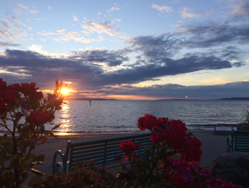 Summer Sunset Edmonds Washington United States