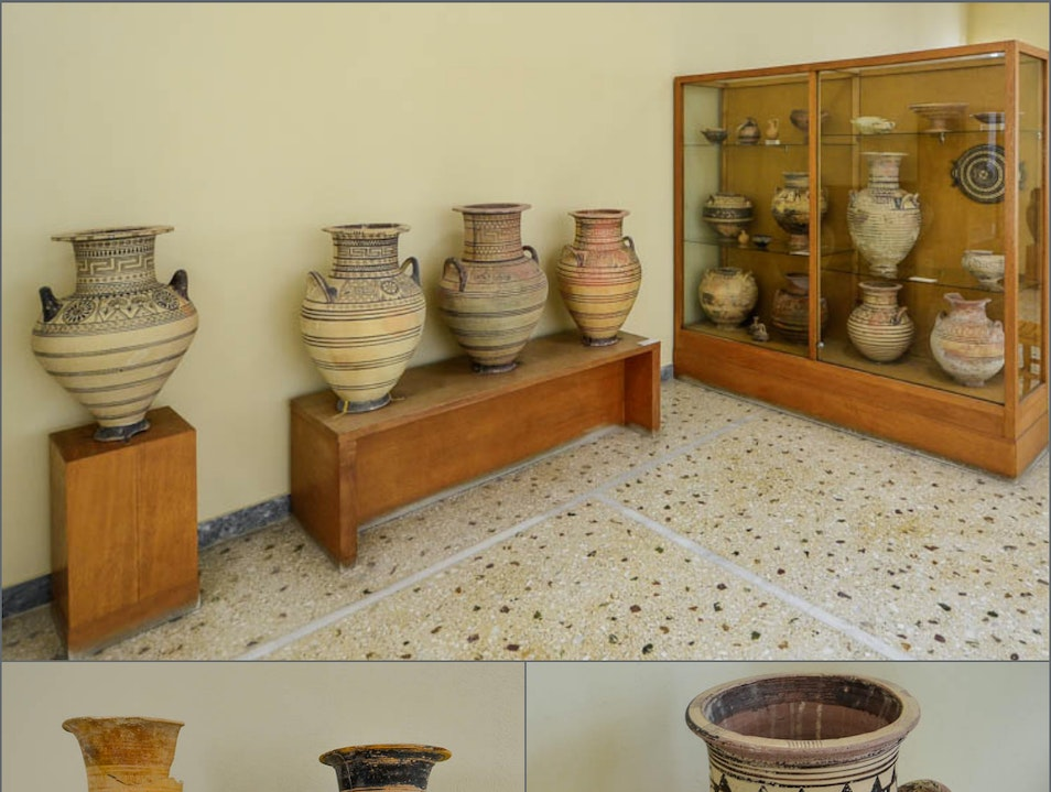 Archaeological museum, Fira  Thera  Greece